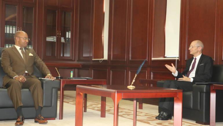 Audience du Premier Ministre avec  l'Ambassadeur de l'Union Européenne